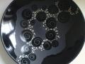 schale schwarz matt glanz-platin