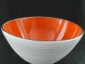 schale weiss matt orange glanz