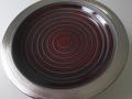 schale schwarz matt rot glanz-platin